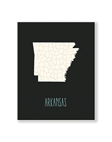 Children's Map of United States Home State (Arkansas)