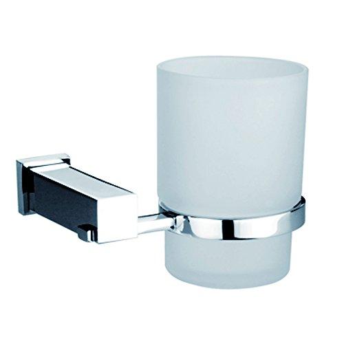 Dawn 8202S Square Series Single Glass Tumbler Tooth Brush Holder (Toothbrush Series Holder Brass)