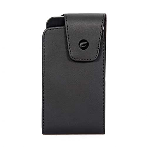 Premium Black Vertical Leather Case Pouch Cover Holster with Swivel Belt Clip for Straight Talk Samsung Galaxy S6 (S906C) ()