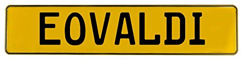 Vintage Parts 635648 Mancave Wall Art (Eovaldi Yellow Stamped Aluminum Street Sign), 1 Pack