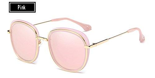 Mujer Estructura de Gafas TL Ojo pink Sunglasses Mujeres Aleación la Gafas Sol de Famosa Gafas Gato de de piernas Metal Gris de Sol Negro 6Fq5qwz