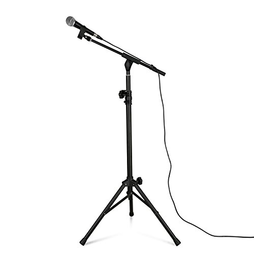 - Tenuto Tech Speaker Microphone Stand Kit with Microphone, Microphone Holder 10ft XLR Cable (Mic stand set)