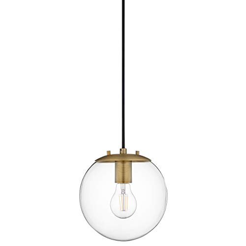 Sferra Globe Pendant Light | Brass Pendant Lighting for Kitchen Island with LED Bulb LL-P201-AB