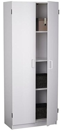 Your Search for Something Stylish Yet Useful Ends Here With This Kitchen Pantry Made of Laminated Particle Board In White Color With 4 Shelves Just Classic