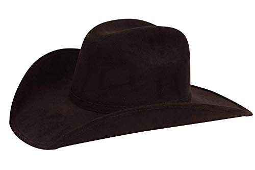 Enimay Faux Felt Western Style Pinch Front Straw Canvas Cowboy Cowgirl Straw Hat (Large | X-Large, Brown)