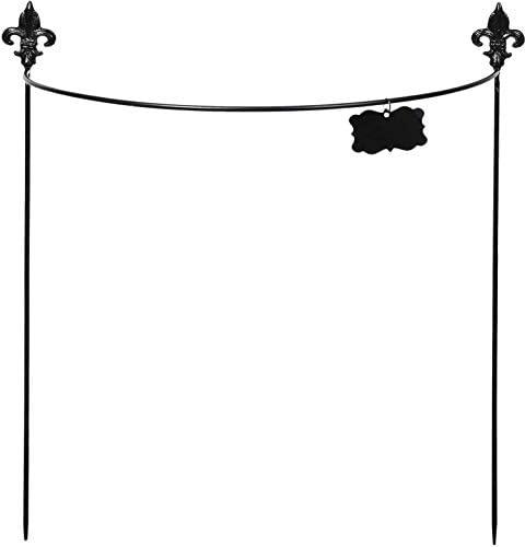 ESSCHERT GARDEN Pflanzstäbe, halbrund, Stahl, Lilienblüte, 60 cm
