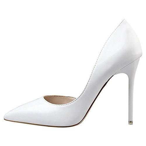 Toe Pointed White D'Orsay Women Chila Zuban Pumps qw6PAX7