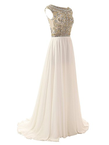 Dreagel Formal Party for Crystal Dress Dresses Grey Women's Evening Beaded Prom Long Fr5wFqvH