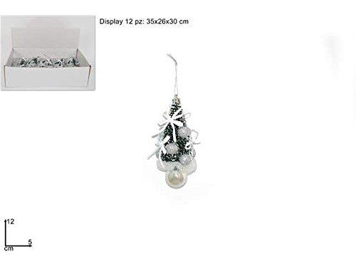 LIBERAONLINE Perchero Árbol con Bolas Plata 12 cm árbol de ...