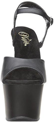 Matte Chaussures Faux Rot Plateau À Noir Femme Leather Talons Pleaser blk blk Sky Avec 309 AxPBEB6