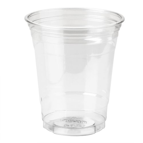 Dixie CP12DX WiseSize PETE Cup, 12 oz Capacity, Clear (Case of 20 packs, 25 cups per pack)