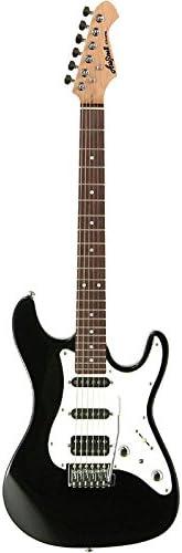 Aria STGSTVB - Guitarra Stratocaster, color negro