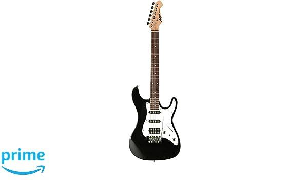 Aria STGSTVB - Guitarra Stratocaster, color negro: Amazon.es ...