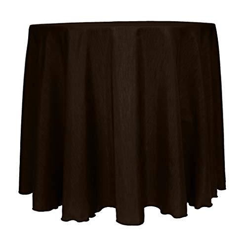 Ultimate Textile -23 Pack- Reversible Shantung Satin - Majestic 120-Inch Round Tablecloth - for Weddings, Home Parties and Special Event use, Chocolate (Shantung Chocolate)