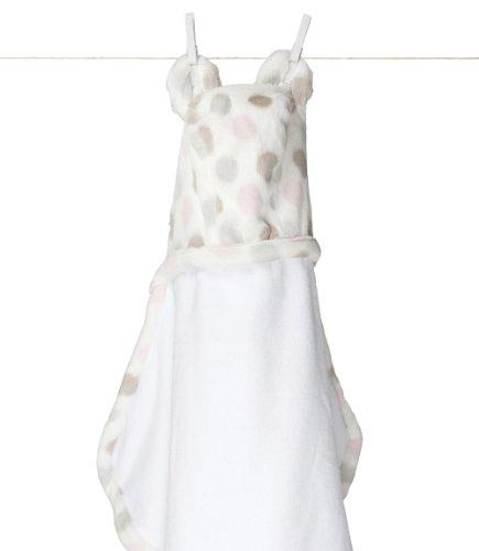 Little Giraffe Luxe Dot Towel (pink)