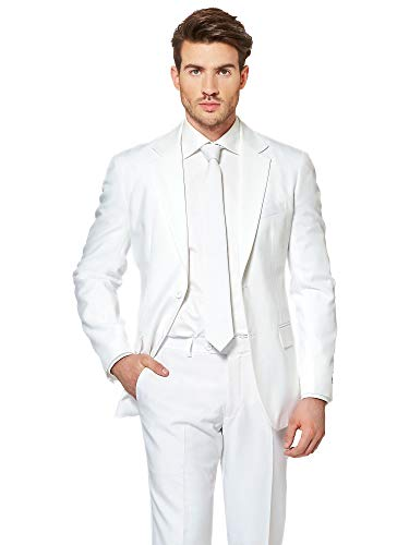 OppoSuits Solid Color Prom Suits for Men Comes with Pants, Jacket and -