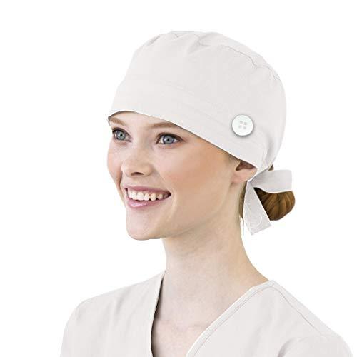 Surgical Cap Scrub Cap Sweatband Medical Bouffant Cap Adjustable Turban Cap Scrub Hat Head Cover for Men Women Doctor Nurse