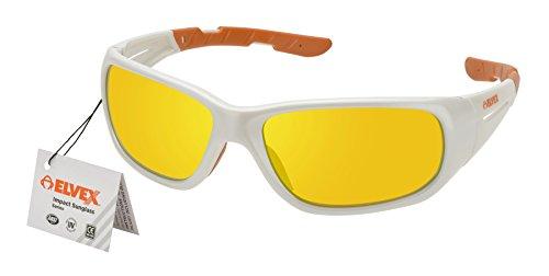 Sunglasses, Pearl White Frame/Orange Mirror Lens ()