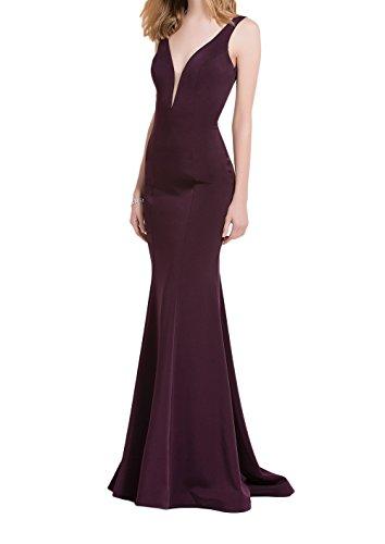 Festlichkleider Abschlussballkleider Brautmutterkleider Figurbetont Einfach Bodenlang Abendkleider Braut Meerjungfrau mia La 4wYxTqazH