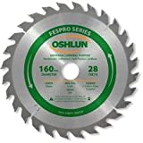 Oshlun SBFT-160028 160mm 28 Tooth FesPro General Purpose ATB Saw Blade with 20mm Arbor for Festool TS 55 EQ, DeWalt DWS520, and Makita SP6000K Size: 28 Tooth Universal Model: SBFT-160028 Tools & Home Improvement