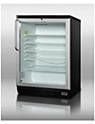 Summit SCR600BLPUBTB Beverage Refrigeration, Glass/Black