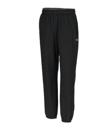 Champion Men's Closed Bottom Light Weight Jersey Sweatpant, Black, X-Large from Champion