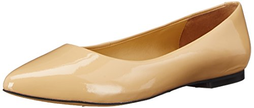 US Soft Flat Nude 5 Women's Trotters Black Patent Patent 6 Ballet N Leather Estee wxzxqgRtSP
