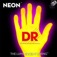 DR Strings Hi-Def NEON Yellow Coated Medium 7-String Electric Guitar Strings (10-56)
