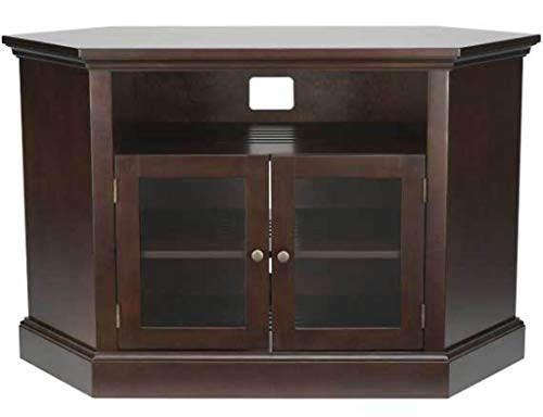 Sanus BFAV48-CH1 Basic Foundations 48 Wood Corner TV Stand – Chocolate