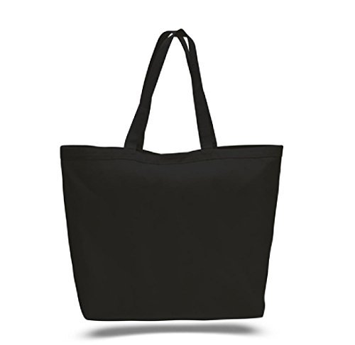 Georgiabags Buy Bulk (6pack) Great Price Large Heavy Canvas Tote Bags With Velcro Closure Promotional Bag(23
