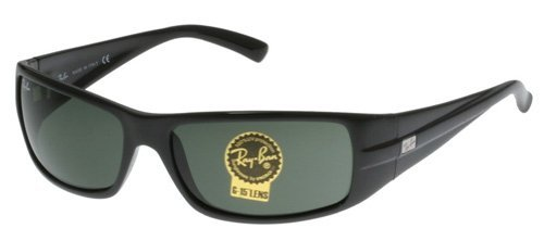 e29e04a2668 ... sale ray ban rb 4057 sunglasses black crystal green one size buy c81a3  58c32
