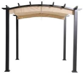 9 pies x 9 ft. Acero inoxidable y aluminio Arco Pergola con toldo ...