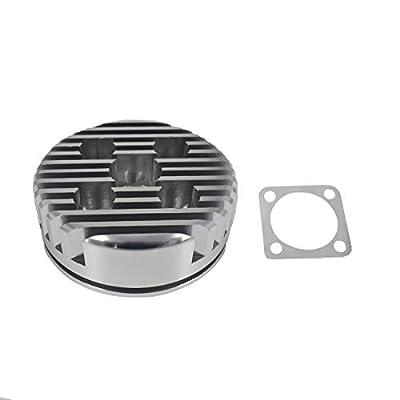 JRL CNC Cylinder Head for Racing 66cc/80cc Engine (Silver): Automotive