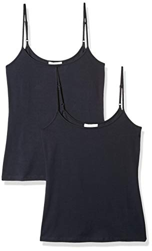 Amazon Brand - Daily Ritual Women's Stretch Supima Camisole, Navy, Large ()