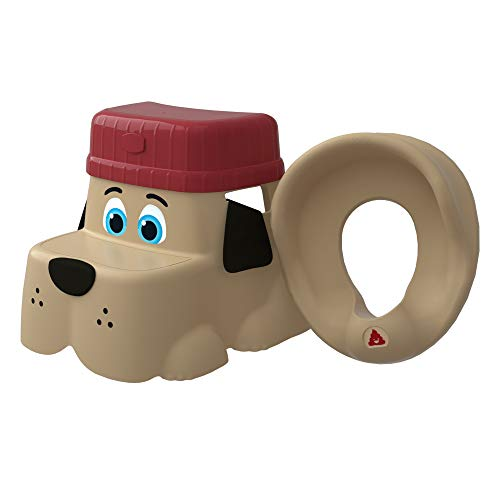 (Squatty Potty Kids Pet Toilet Stool Kit Pup Base with Hat and Seat, 2.5 Pound)