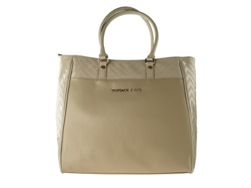 Versace Jeans E1VFBBL9 Shoulder Bag Tote For Women in Taupe Gold Color (Versace Tote)
