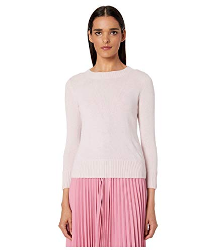 Vince Women's Shrunken 3/4 Sleeve Cashmere Sweater, Rosa Secco, Pink, Large