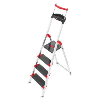 Championsline 4.79 ft Aluminum Step Ladder with 495 lb. L...