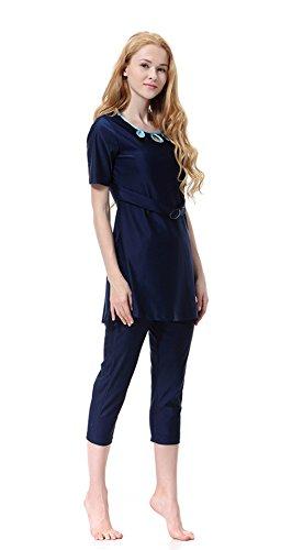 beachwear Blu bagno Costume Donne islamico pezzi da musulmano Tre GladThink awSq4g8w