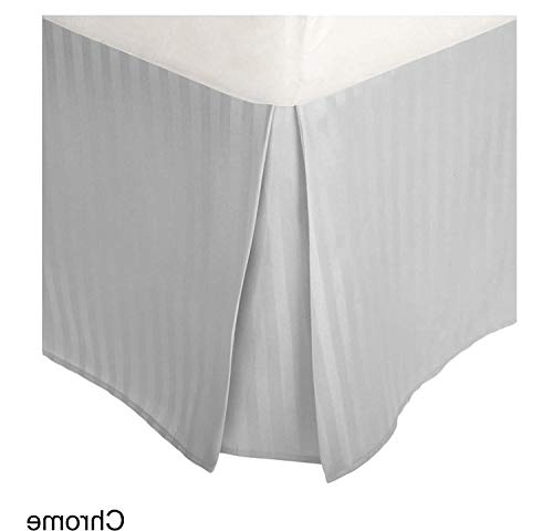Superior Hotel Luxury 1200 Thread Count 1-Piece Bed Skirt Pleated Split Corner with 16