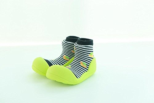 Attipas UFO noir chaussures premiers pas enfant filles et enfants, antidérapant, ergonomique 22.5 noir
