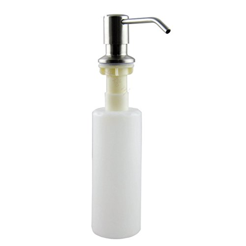 Daixers Stainless Steel Sink Soap Dispenser With 11 OZ (Aqua Brass Brush)