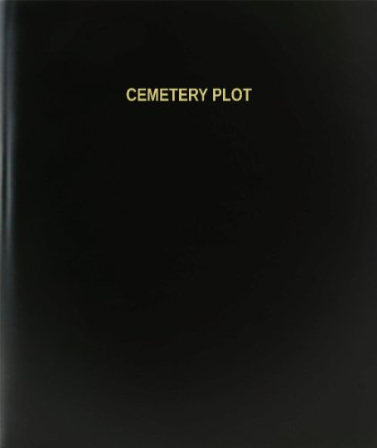 "BookFactory Cemetery Plot Log Book / Journal / Logbook - 120 Page, 8.5""x11"", Black Hardbound (XLog-120-7CS-A-L-Black(Cemetery Plot Log Book))"