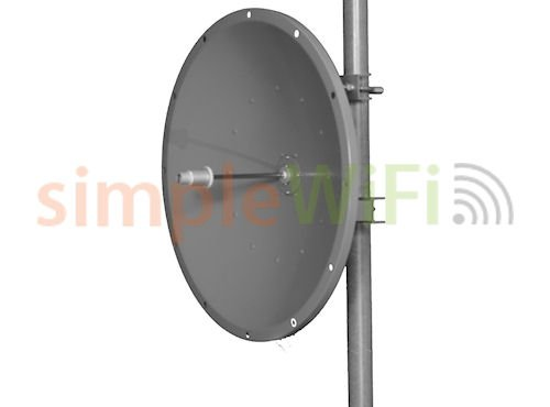Parabolic 30dBi Dish 5GHz Antenna Single Polarity