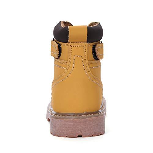 Tqgold Sports Chaudement A jaune D'hiver Outdoor Femme De Chaussures Chaudes Fourrure Impermable Bottes Neige Baskets Cuir Bottines Homme Uwx8rTqPU