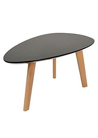 Couchtische design ideen  ts-ideen Design Beistelltisch Oval Holz Schwarz MDF Kaffeetisch ...