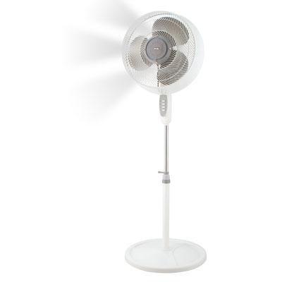 KUL  54-Watt 3-Speed Tall High Velocity Oscillating 16-Inch Diameter Misting Fan, 54-Inch, White