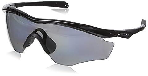 Oakley Men's M2 Frame XL OO9343-04 Non-Polarized Iridium Shield Sunglasses, Polished Black, 145 mm