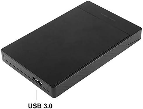 Durable USB 3.0 Interface Tool Free Black 2.5 inch SATA HDD//SSD External Enclosure