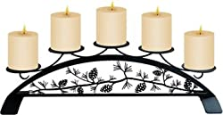 18.5 Inch Pinecone Table Top Pillar Candle Holder